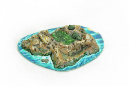 Maqueta pintada isla grande