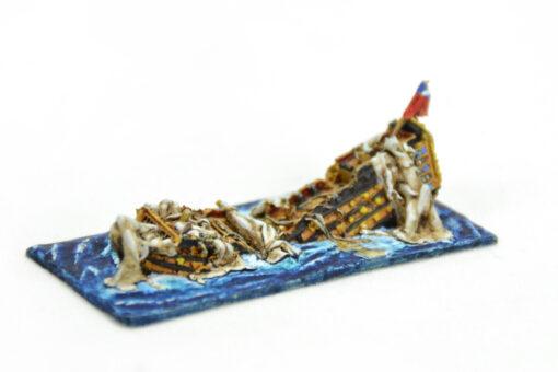 Navío Santa Bárbara explosión. Sails of Glory
