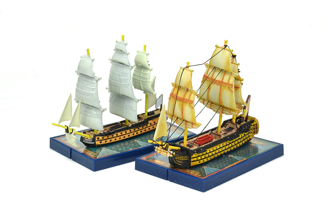 Navíos pintados y sin pintar de Sails of Glory