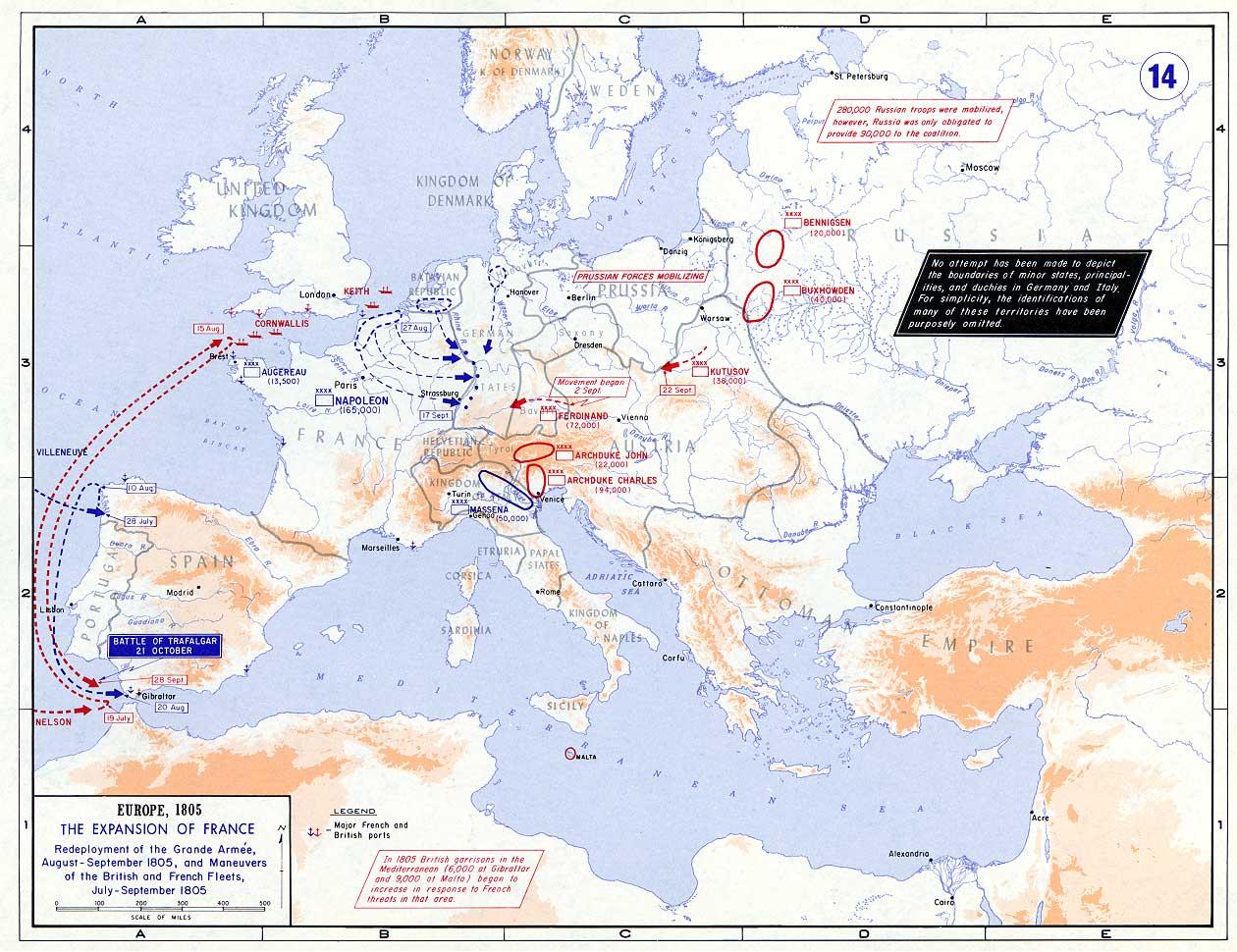 Europa en 1805. Situación Estratégica.