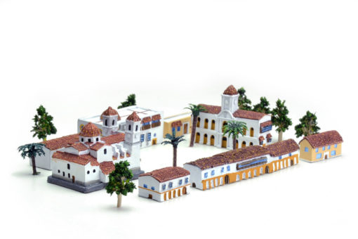 maqueta juego de mesa ciudad colonial