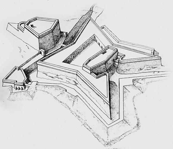 dibujo línea castillo malta